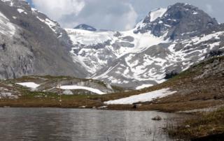 Il Monte Cristallo e la sua vedretta glaciale